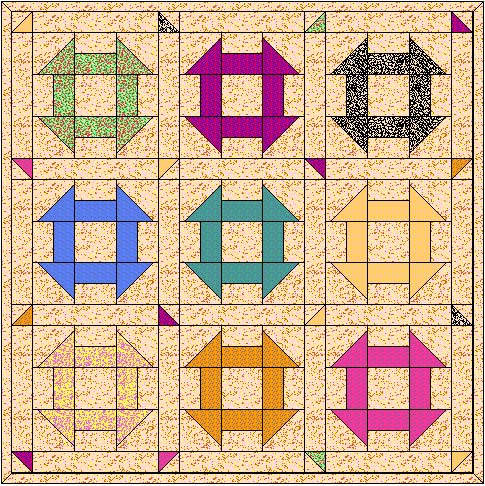 Churn Dash Quilt Block From our Free Quilt Block Patterns