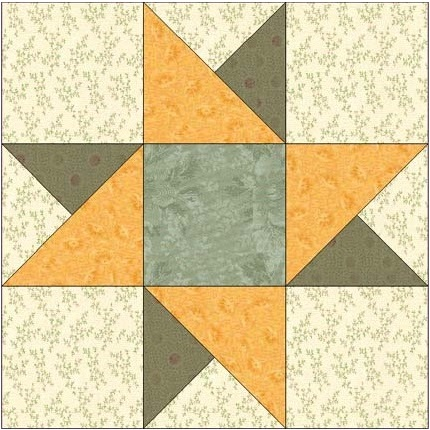 Spinning Star Cool 12 Inch Quilt Block Patterns