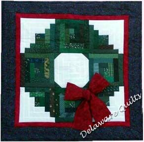 Log Cabin Christmas Wreath Wallhanging by Eleanor Burns From the